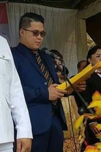 Camat Michael Kamang Waworuntu Irup, Anggota Deprov Sulut Billy Lombok Baca Naskah Proklamasi