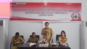 Sistem Informasi Manajemen Kepegawaian, Simpeg, Kepala BKPSDM, Otto C.B Sandag SE,