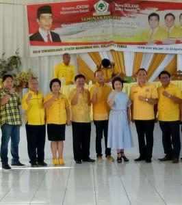 Wakil Ketua OKK DPD Partai Golkar Sulut, Ketua DPD II, serta pengurus Kota Tomohon