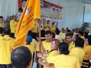 Pelantikan pengurus kelurahan Partai Golkar se-Kota Tomohon
