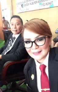 Wali Kota dan Wakil Wali Kota saat menghadiri Rapat Paripurna Istimewa