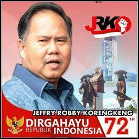 Jefry R Korengkeng SH M.Si, JRK, Pilkada Minahasa 2018