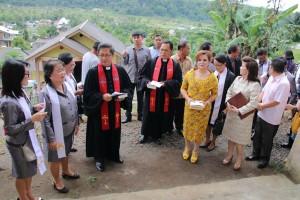 SAS  bersama para pendeta dan Pelsus serta undangan