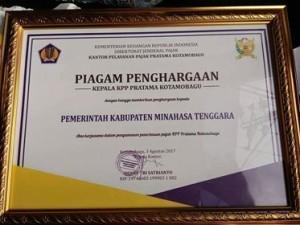Pemkab Mitra , Kementrian Keuangan, Drs Ken Dwojugiasteadi, pajak, taat pajak