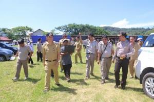 Wali Kota Tomohon bersama Kepala BPN/ATR Tomohon dan Wakapolres Tomohon