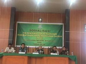 Sosialisasi TP4D, TP4D minahasa, dana desa
