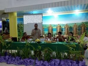 Wali Kota Tomohon Jimmy F Eman SE Ak saat memberikan sambutan