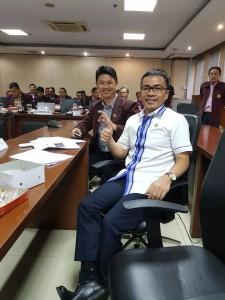 PPNI Sulut Ferdinand Gansalangi bersama Senator asal Sulut Ir Stefanus BAN Liow