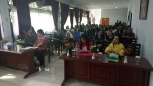 Ketua Jurusan Pariwisata Politeknik Manado Oktavinus Lintong SPi MSi(pake merah)