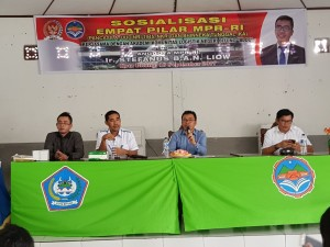 Senator SBAN Liow saat mensosialisasikan Empat Pilar MPR-RI