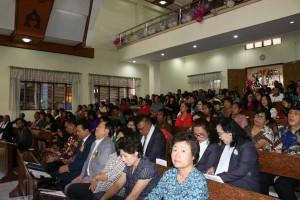Jemaat serta undangan yang hadir di Ibadah HUT ke-64 GMIM Eben Haezer Kaaten