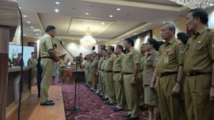 Gubernur Olly Lantik JWS Ketua Umum Panitia Porprov Sulut ke-IX