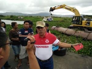 Pantau Pengangkatan Enceng Gondok di DAS Tondano, JWS Targetkan Tiga Bulan Bersih