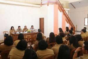 BPN bersama Sekretaris Kota Tomohon dan instansi terkait dalam Sosialisasi Penerbitan Sertifikat Prona