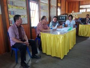 Sekretaris Kota Tomohon saat berkunjung ke Kelurahan Woloan Satu Utara