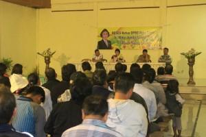 Ketua DPRD Tomohon Ir Miky JL Wenur menyerap aspirasi di Kelurahan Pangolombian