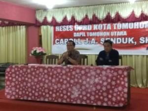 Wakil Ketua DPRD Tomohon Caroll JA Senduk SH serap aspirasi di Kakaskasen