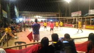 Pertandingan final bola voli Porkot Tomohon III