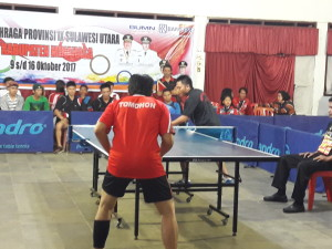Tim Tenis Meja Tomohon terhenti di semi final