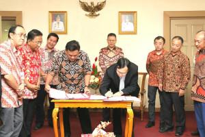 Pemprov Sulut dan CCCC Tanda Tangani MoU Pembangunan KEK Bitung