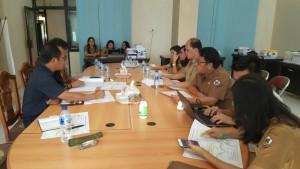 Komisi II DPRD Tomohon dengan Bapelitbang