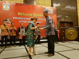 Wakil Wali Kota Tomohon di Welcome Dinner Kongres Citynet 2017