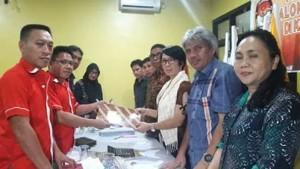 KPU Minahasa Tenggara, PKPI mitra, hanura mitra,Fanly Mokolomban, Lily Raco,