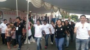 Gerak Jalan KPU Mitra, KPU Mitra, Jurnalis Minahasa Tenggara