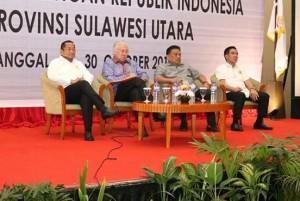 Gubernur Sulawesi Utara, Olly Dondokambey, Mendag RI Enggartiasto,
