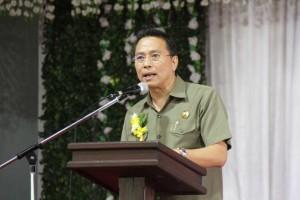 Wali Kota Tomohon Jimmy F Eman SE Ak yang juga Ketua Umum Panitia HUT ke-55 P/KB GMIM