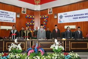 Rapat Paripurna HUT Kota Bitung ke-27, Wagub Kandouw: Bitung Jantungnya Sulut