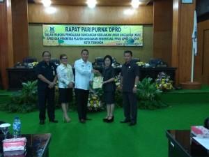 Wali Kota, Wakil Wali Kota, SEkretaris Kota dan Pimpinan DPRD