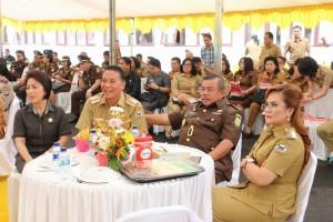 Wali kota, wakil wlai kota, Ketua DPRD Tomohon bersama Kajati Sulut