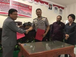 Pemkab Mitra Kucurkan Dana Pengamanan Pilkada untuk Polres dan TNI