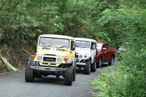 Kendaraan bwali Kota dan Wakil Wali Kota Tomohon yang ikut Rally Wisata J-Man Pas 2017