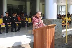Peringati Hari Kesaktian Pancasila, Pemkab Minsel Laksanakan Upacara
