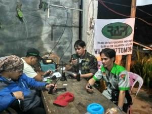 Kaban Kesbangpol Toar SJ Pandeirot SPd MM di Posko pencarian orang hilang