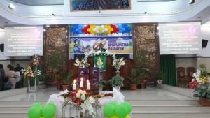 Letkol Inf Juibert Nikson Purnama STh saat memimpin Ibadah