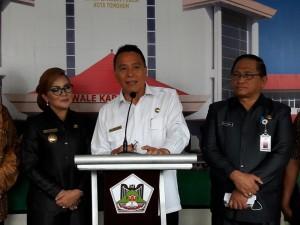 Wali Kota, wakil wali kota serta Sekretaris Kota Tomohon