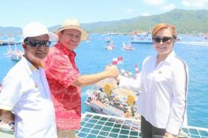Wakil Wali Kota Tomohon dan Wali Kota Bitung di Festival SElat Lembeh 2017