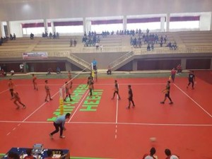 Lomban Support Tim Volley Bitung di Ajang Porprov