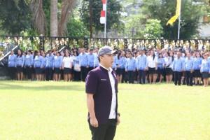 Ketua Pemuda Sinode GMIM Toar Pangkey Pemimpin Upacara HUT ke-89 Sumpah Pemuda