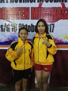 Julianty Taroreh dna Isabela Sundah, peraih 2 medali emas di cabang tenis meja