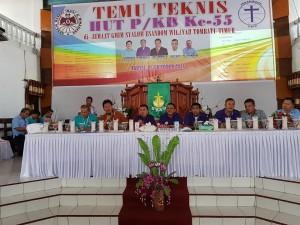 Temu Taknis HUT ke-55 P/KB GMIM di Jemaat Syalom Esansom Wilayah Tombatu
