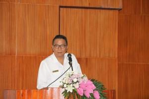 Wali Kota saat membawakan sambutan di Rapat Paripurna