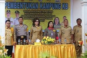 Bupati Minsel Canangkan Desa Kilometer Tiga Amurang Kampung KB dan Wisata