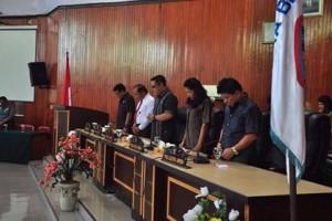 DPRD Kota Bitung Gelar Paripurna Pembicaraan Tingkat I Ranperda APBD 20181