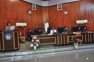 DPRD Kota Bitung Gelar Paripurna Pembicaraan Tingkat I Ranperda APBD 20183