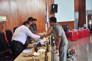 DPRD Kota Bitung Gelar Paripurna Pembicaraan Tingkat I Ranperda APBD 20184