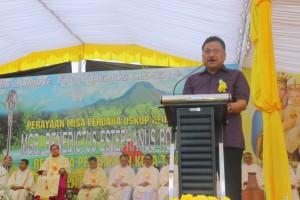 Gubernur Sulut membawakan sambutan